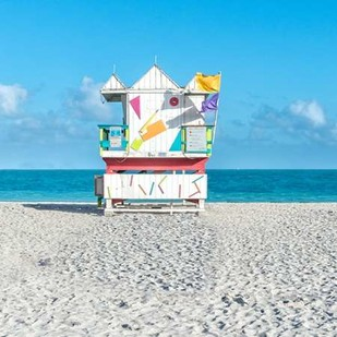 Miami Beach V Digital Print by Silver, Richard,Impressionism