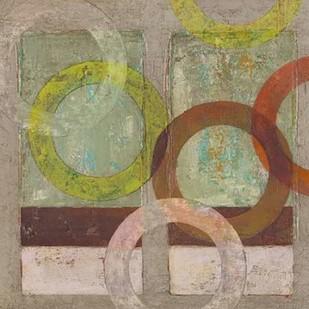 Circles Textured II Digital Print by Altug, Mehmet,Abstract