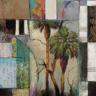 Abstract Palms II Digital Print by Novak, Rick,Abstract