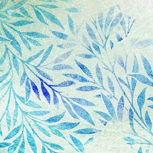 Cerulean Foliage II Digital Print by Studio W,Decorative