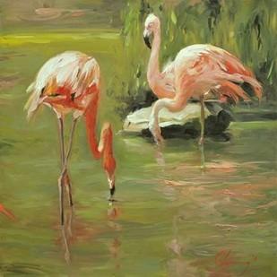 Flamingo II Digital Print by Larivey, Chuck,Impressionism