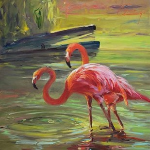 Flamingo III Digital Print by Larivey, Chuck,Impressionism