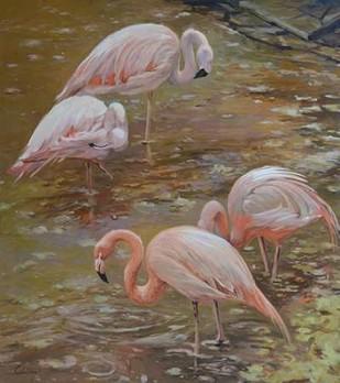 Pink Passion Digital Print by Larivey, Chuck,Impressionism