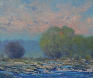 James River from Belle Isle I Digital Print by Larivey, Chuck,Impressionism