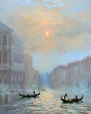 Venice Morning Mist Digital Print by Larivey, Chuck,Impressionism