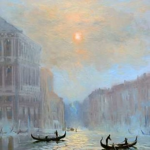 Venice Morning Mist Digital Print by Larivey, Chuck,Impressionism