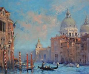Venice Grand Canal Digital Print by Larivey, Chuck,Impressionism