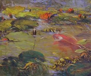 Koi & Lilies I Digital Print by Larivey, Chuck,Impressionism