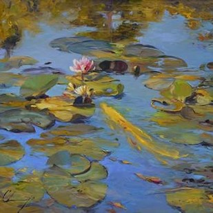 Koi & Lilies II Digital Print by Larivey, Chuck,Impressionism