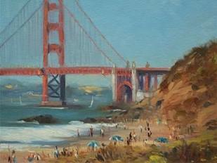 Baker's Beach Digital Print by Larivey, Chuck,Impressionism