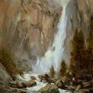 Yosemite Falls Digital Print by Larivey, Chuck,Impressionism