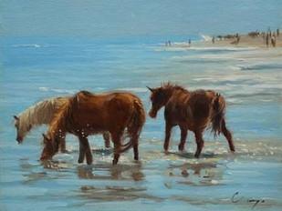 Chincoteague Ponies Digital Print by Larivey, Chuck,Realism
