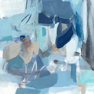 Blue Monday Digital Print by Long, Christina,Abstract