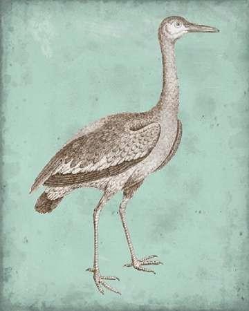 Sepia & Spa Heron I Digital Print by Vision Studio,Decorative
