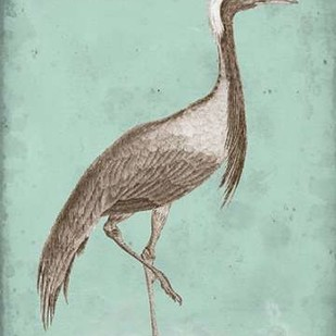 Sepia & Spa Heron III Digital Print by Vision Studio,Decorative