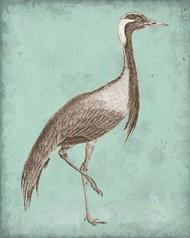 Sepia & Spa Heron III Digital Print by Vision Studio,Decorative