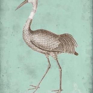 Sepia & Spa Heron IV Digital Print by Vision Studio,Decorative