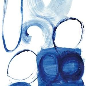 Blue Circle Study I Digital Print by Fuchs, Jodi,Abstract
