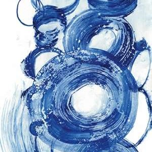 Blue Circle Study II Digital Print by Fuchs, Jodi,Abstract