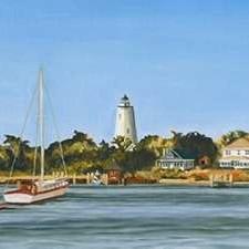 Harbor Coast Digital Print by Miller, Dianne,Impressionism