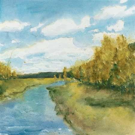 River Sketch I Digital Print by Meagher, Megan,Impressionism