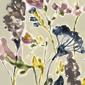 Parchment Flower Field I Digital Print by Goldberger, Jennifer,Decorative