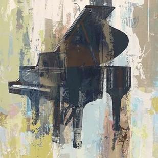 Bluebird Piano Digital Print by W-DH,Impressionism