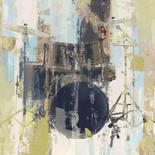 Bluebird Drum Digital Print by W-DH,Impressionism