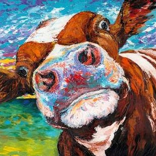 Curious Cow I Digital Print by Vitaletti, Carolee,Expressionism
