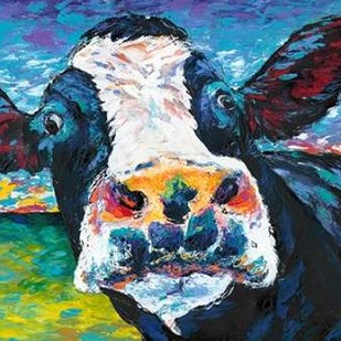 Curious Cow II Digital Print by Vitaletti, Carolee,Expressionism