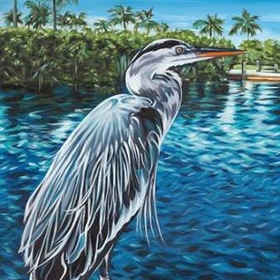 Peaceful Heron I Digital Print by Vitaletti, Carolee,Expressionism