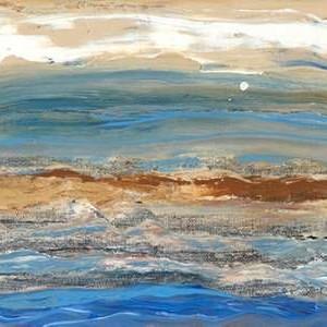 Indigo Currents I Digital Print by Ludwig, Alicia,Impressionism