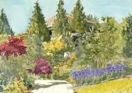 Aquarelle Garden IX Digital Print by Miller, Dianne,Impressionism