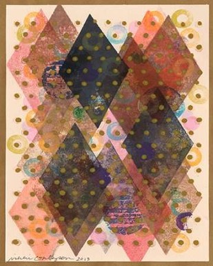 Inked Triangles I Digital Print by Galapon, Nikki,Abstract