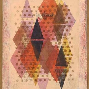 Inked Triangles II Digital Print by Galapon, Nikki,Abstract