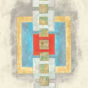 Squares in Line I Digital Print by Galapon, Nikki,Decorative