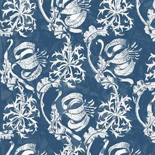 Indigo Floral Chintz I Digital Print by McCavitt, Naomi,Decorative