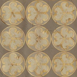 Golden Trellis IX Digital Print by Vess, June Erica,Decorative