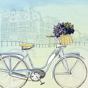 Biking Through Amsterdam Digital Print by McCavitt, Naomi,Decorative