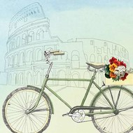 Biking Through Rome Digital Print by McCavitt, Naomi,Decorative