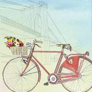 Biking Through New York Digital Print by McCavitt, Naomi,Decorative