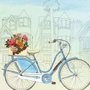 Biking Through San Francisco Digital Print by McCavitt, Naomi,Decorative
