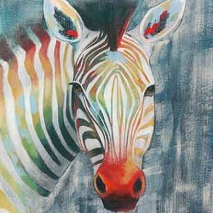 Prism Zebra I Digital Print by Popp, Grace,Decorative
