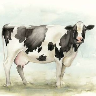 Watercolor Cow I Digital Print by Popp, Grace,Impressionism