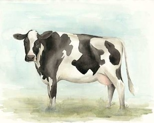 Watercolor Cow II Digital Print by Popp, Grace,Impressionism