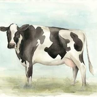 Watercolor Cow II Digital Print by Popp, Grace,Impressionism