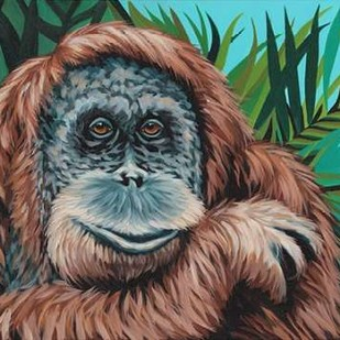 Jungle Monkey I Digital Print by Vitaletti, Carolee,Expressionism