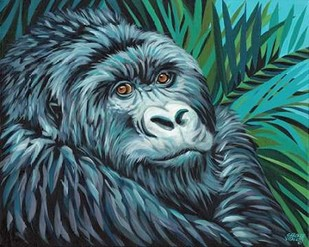 Jungle Monkey II Digital Print by Vitaletti, Carolee,Expressionism