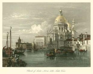 Church of Santa Maria della Salute Digital Print by Leitch, W.L.,Impressionism