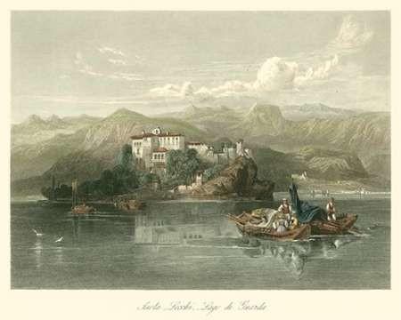 Isola Lecchi, Lago di Guarda, Italy Digital Print by Leitch, W.L.,Impressionism